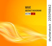 amber honey. abstract... | Shutterstock .eps vector #205098862