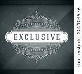window advertising decals... | Shutterstock .eps vector #205104976