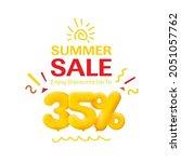 special offer sale 35  discount ... | Shutterstock . vector #2051057762
