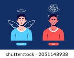 kind character with halo and... | Shutterstock .eps vector #2051148938