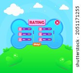 game ui  rating chart users...