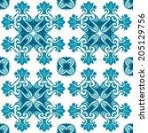 oriental ornamental floral... | Shutterstock .eps vector #205129756