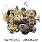 stylized metal collage of... | Shutterstock . vector #205135732