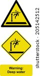 warning deep water | Shutterstock .eps vector #205142512