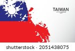 taiwan painted flag background. ... | Shutterstock .eps vector #2051438075