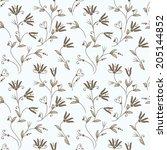 abstract flower seamless... | Shutterstock .eps vector #205144852