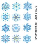 raster version of snowflakes | Shutterstock . vector #20514671