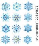 raster version of snowflakes | Shutterstock . vector #20514671