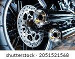 Rear Wheel Of A Harley Davidson ...