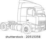 vector   contour truck ... | Shutterstock .eps vector #20515358