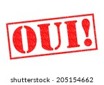 Oui  Red Rubber Stamp Over A...