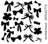 black and white silhouette...   Shutterstock .eps vector #205161772