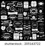 mega set of ornate frames and... | Shutterstock .eps vector #205163722