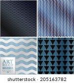 art deco vintage wallpaper... | Shutterstock .eps vector #205163782