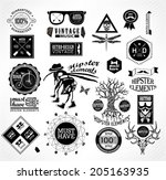 hipster label  icon  elements ...   Shutterstock .eps vector #205163935