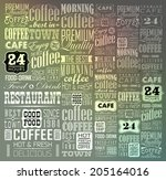 mega set of vintage retro... | Shutterstock .eps vector #205164016