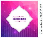 abstract creative concept...   Shutterstock .eps vector #205171096