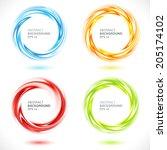 Set Of Abstract Swirl Circle...