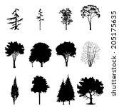 set of different tree | Shutterstock . vector #205175635
