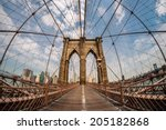 Brooklyn Bridge And New York...