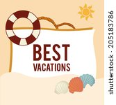 summer design over beige... | Shutterstock .eps vector #205183786
