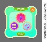 game ui pause button window pop ...