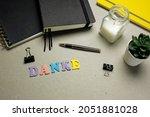 danke  thank you in german... | Shutterstock . vector #2051881028