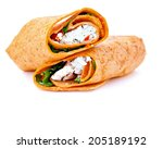 wrap sandwich with feta cheese... | Shutterstock . vector #205189192