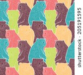 Bears Seamless Pattern