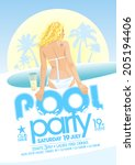 pool party design template....   Shutterstock .eps vector #205194406