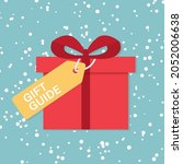gift guide concept  vector... | Shutterstock .eps vector #2052006638