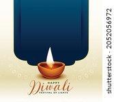 traditional happy diwali...   Shutterstock .eps vector #2052056972
