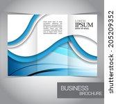 tri fold brochure template | Shutterstock .eps vector #205209352