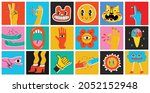 big set of different colored... | Shutterstock .eps vector #2052152948