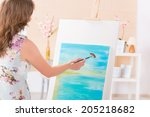 Beautiful Woman Painting On...
