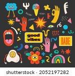 hand drawn vector illustrations ... | Shutterstock .eps vector #2052197282