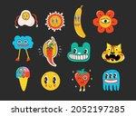 hand drawn vector illustrations ... | Shutterstock .eps vector #2052197285