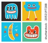 big set of different colored... | Shutterstock .eps vector #2052197288