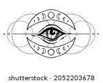 eye of providence. masonic...   Shutterstock .eps vector #2052203678
