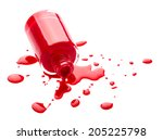 red nail polish isolated on... | Shutterstock . vector #205225798