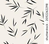 seamless pattern. bamboo leaf...   Shutterstock . vector #2052262298