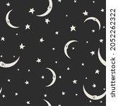seamless dark pattern with...   Shutterstock . vector #2052262322