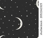 seamless pattern with sleeping...   Shutterstock . vector #2052262325
