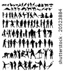 hundred of silhouette on people ... | Shutterstock .eps vector #20523884