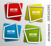 origami paper infographic... | Shutterstock .eps vector #205242592