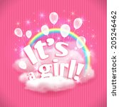 """it's a girl "" greeting card... 