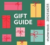 gift guide concept  vector... | Shutterstock .eps vector #2052518255