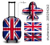 Flag Travel Luggage Trolley Ba...