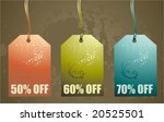 shopping paper tags vector...