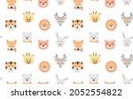 cartoon cute animals for baby... | Shutterstock .eps vector #2052554822
